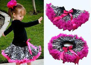 Hot Baby Girls Zebra Print Princess Child Ballet Dance Costume Tutu Dress Skirt