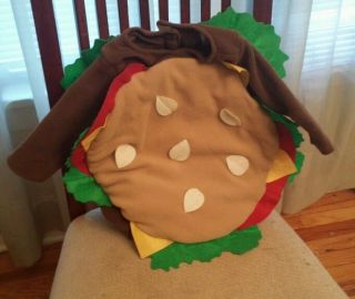 Toddler Baby Halloween Costume Hamburger 6 12 Months