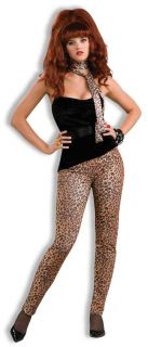80's Heavy Metal Peggy Bundy Cheetah Leopard Animal Print Costume Stretch Pants