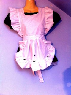 French Maid Dress Piny Cosplay Sissy Adult Baby Black Satin Horror Alice Monique