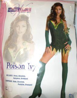 Poison Ivy Villian Batman Green Dress Adult Costume 10 12 NIP