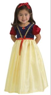 Precious Royal Snow White Princess Yellow Blue Red Gown Girl Costume