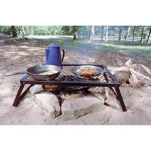 Vintage Retro Western Cowboy Style Camping BBQ Fire Camp Open Fire Cooking Grill