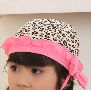 3pcs Baby Girl Kids Toddler Swimsuit Bikini Swimwear Pink Leopard Tutu Clothes