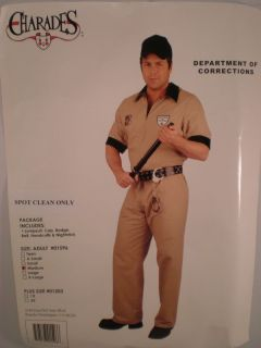Department of Corrections Officer Prison Guard M Costume