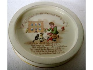 Antique Royal Doulton Nursery Rhymes The House That Jack Built Baby Bowl