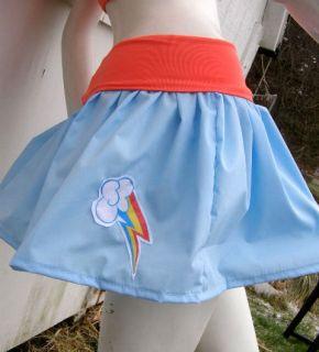 My Little Pony Skirt Rainbow Dash MLP FIM Cosplay Your Size Kawaii Custom