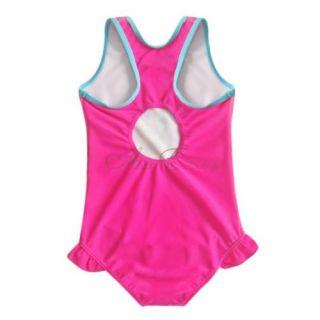 Girl Kid Barbie Open Back Swimsuit Swimwear Swimming Costume Bathing Suit Sz 4 5