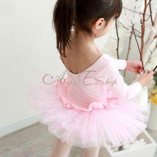 Girls Kid Ballet Dance Dress Polka Dots Tutu Skate Leotard Fairy Costume Sz 4 7
