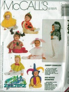 Child Infant Toddler Halloween Costume Sewing Pattern