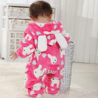 New Baby Boy Girl Animal Fleece Costume Pajamas Sleepwear Outfit Sze 00 0 1 2