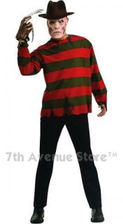 Freddy Krueger Teen Halloween Horror Movie Costume New