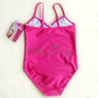 Girl Kids Barbie Princess 2 7Y Swimsuit Swimwear Swimming Costume Tankini Bikini