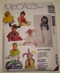 McCall's 6098 Costumes Hood Cape Halloween Sewing Pattern Infant Toddler