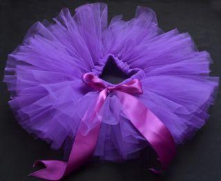 Purple Party Costume Ballet Kids Dancing Girl Toddler Child Baby Tutu Skirt