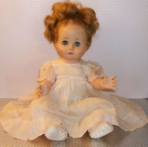 Vintage 1940's 1950's Madame Alexander Pouting Baby Doll Original Clothes Cryer