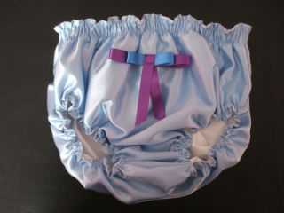 Satin Knickers Lined Plastic Pants Adult Baby Maid Sissy Unisex Fancy Dress