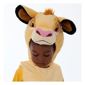 Brand New Disney Store Simba Lion King Plush Costume Baby Toddler Size 3T 3