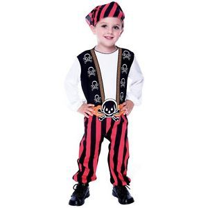 Halloween Pirate Prince Toddler Costume Sz 2T Child New Black Red Boy