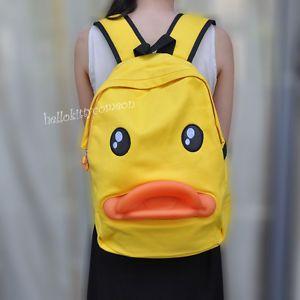 Cute Cartoon Duck Style Baby Boy Girl Kid Child Backpack Schoolbag Shoulder Bag