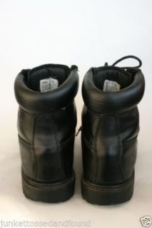 Golden Elephant Mens Black Leather Insulated Waterproof Work Boots 13 W 1095