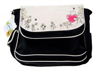 Disney Winnie Pooh Bees Heart Baby Large Messenger Tote Diaper Bag Unisex New BK