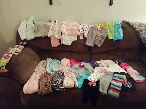 Huge Baby Girl Clothes Lot 0 3 3 6 6 Months
