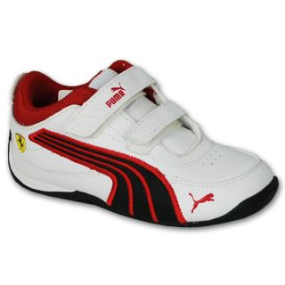 Infants Trainers Boys Puma Shoes Walking Casual Drift Cat White Brand Ferrari