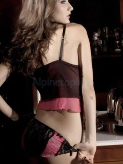 New Arrived Hot Black Women's Very Sexy Deep V Hollow Out Sleepwear Nightgown
