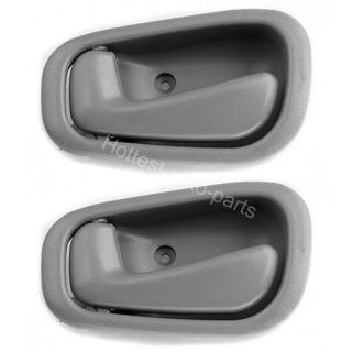 98 99 00 01 02 Toyota Corolla Inside Interior Door Handle Gray Driver Left 2pcs
