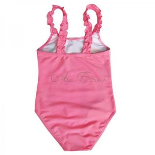 Girls Kids Princess Swimsuit Swimwear Bathing Suit Beachwear Swim Costume Sz 2 7