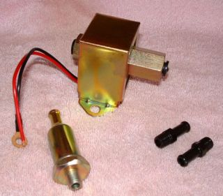Electric Fuel Pump Universal 12V 2 to 3 PSI 29GPH with Fittings Filter