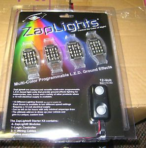 12 Zaplights LED Multi Color Programmable Ground Effects Lights Car Motorcycle