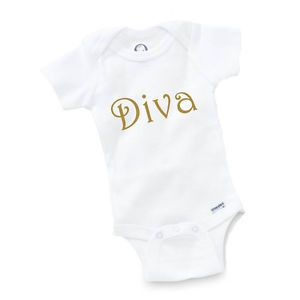 Diva Onesie Baby Clothing Shower Gift Funny Cute Toddler Unique Princess Girl