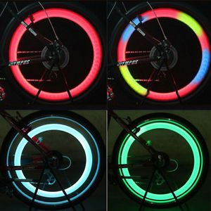 New 4X Color Bicycle Bike Cycling Motorcycle Wheel Spoke LED Light Lamp 3 Mode