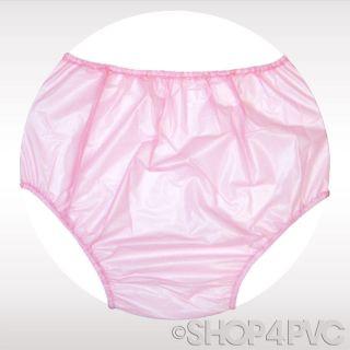 Transparent Pink Adult Baby PVC Over Nappy Diaper Plastic Vinyl Pant XL 28