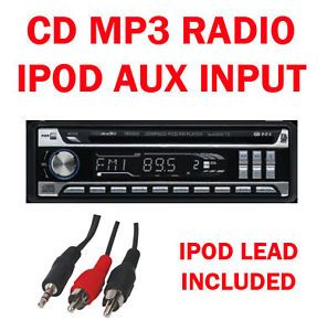Car CD MP3 Radio Stereo Player Tuner Head Unit Face Off iPod iPhone Aux In