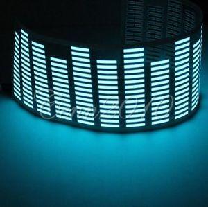 Music Activated Car Sticker Equalizer Glow Rhythm Blue Flash LED Light 70 x 16cm