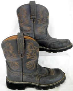 Ariat Fatbaby Distressed Leather Grunge Fat Baby Shorty Boots US Size 9 EUR 40