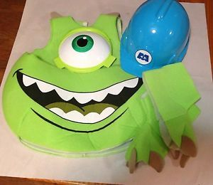 Monsters Inc Mike Wazowski Costume Toddler Kids Candy Catcher Pouch Size 4 6