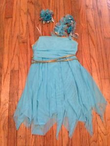 Shirred Lyrical Dance Competition Costume Dress 2 PC Weissman Child Large
