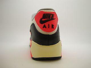 543361 161 Mens Nike Air Max 90 OG Sail Infrared Medium Cool Grey Hoa 2013 QS