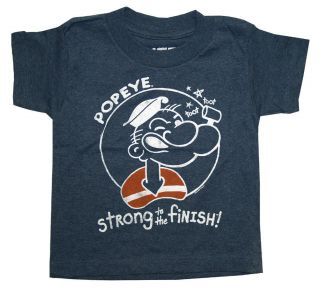 Popeye The Sailor Man Strong to The Finish Life Clothing Cartoon Toddler T Shirt