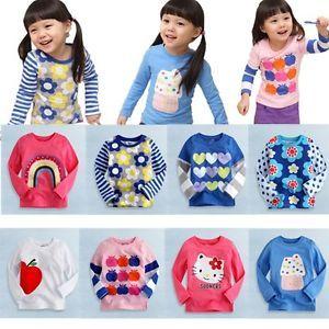"Baby Toddler Kids Boy Girl Clothes Long Top Tee Shirts ""Cool T Shirts Girl """