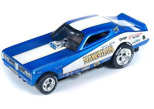 Auto World 4Gear R12 1971 Hawaiian Dodge Charger Funny Car Slot Car AFX Tommy