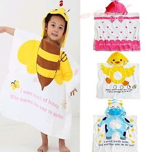 Lovely Baby Kid Girl Boy Cartoon Beach Bath Towel Bathrobe Clothes Washcloth