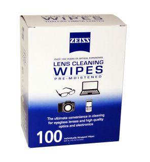 Zeiss Lens Cleaning Wipes 100 PC Pre Moistened Laptop Eyeglass Lense Camera LED
