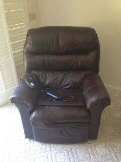 franklin leather lift chair recliner brown power chair
