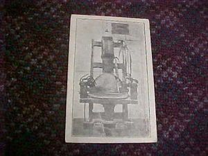 Vintage Electric Chair Postcard