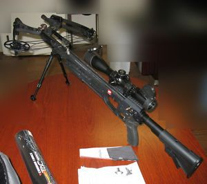 PSE Tac 15i Crossbow with Case 7 Arrows Scope Accessories